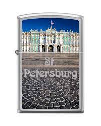 <b>Зажигалка zippo</b> зимний дворец с покрытием high polish chrome
