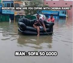 Check out! Funniest memes on Chennai Rains - daily.bhaskar.com via Relatably.com