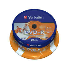 <b>Диск DVD</b>-<b>R</b> Printable <b>Verbatim 4.7 Gb</b> 16x (25 штук в упаковке ...