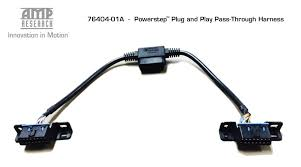 amp research steps w plug n play truckwurx blog 76404 01a amp pass through harness