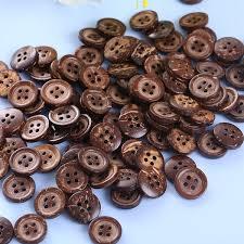 <b>100pcs</b> lot Buttons Brown <b>Coconut Shell</b> 4 Holes Buttons fit ...