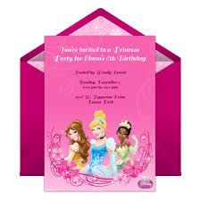 disney princess party online invitation disney family