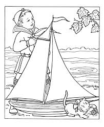 Small Picture BlueBonkers Boy Coloring Pages Model boat sailor boy Free