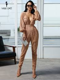 sexy stitching lace jumpsuits playsuit irregular crochet elegant v neck rompers womens