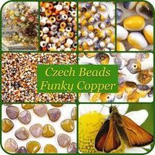 Funky copper #hautehobby #czechglass #flowerbeads
