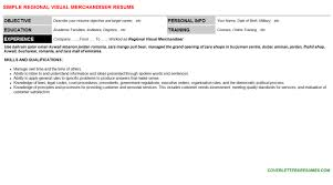 Visual merchandiser resume   Files in Catalog