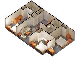 Small House Plans Bedroom Bath
