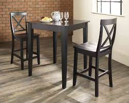 three piece dining set: small reclaimed pine table  inch wrought iron
