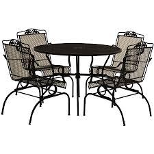 black wrought iron patio furniture 5 piece outdoor black iron outdoor furniture