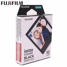 2018 Genuine <b>Fujifilm Instax</b> 20 Sheet <b>SQUARE Black</b> Frame film ...
