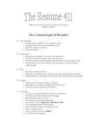resume types different types of resumes different types of resumes examples