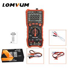 <b>LOMVUM</b> TRMS Digital Multimeter <b>True RMS</b> Auto/Manual Range ...