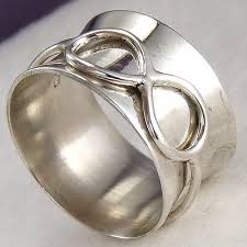 INFINITY SPINNER US 7 SilverSari Fidget Ring <b>Solid 925</b> Sterling ...