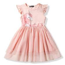 2-6 Years <b>Summer Brand</b> Girl Dress Unicorn <b>Children</b> Party ...