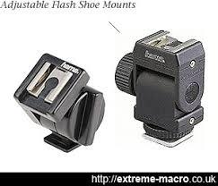 Angle your flash with <b>adjustable flash shoe mounts</b>