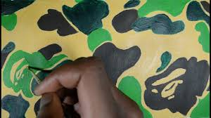 HOW TO DRAW BAPE <b>CAMO PRINT</b> ! (EXACT <b>COLOURS</b>) - YouTube