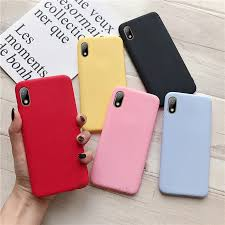 <b>candy color silicone</b> phone case on for huawei y5 2019 2018 matte ...