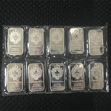 <b>50 pcs Non</b> magnetic Scottsdale silver bullion bar 1 OZ silver plated ...