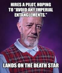 Bad Luck Kenobi, Star Wars, funny, lol, Bad Luck Brian, meme, Obi ... via Relatably.com