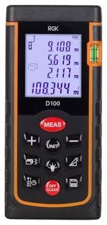 Лазерный <b>дальномер RGK D100</b> — купить по выгодной цене на ...