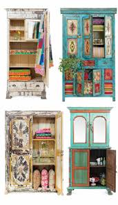 shabby chic furniture boho style wardrobe dresser shelves showcase bohemian furniture