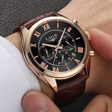 2019 <b>LIGE Men Watches Top</b> Brand Luxury Gold Dragon Sculpture ...