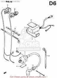 suzuki rm80x 1986 g cdi unit ignition coil schematic partsfiche cdi unit ignition coil schematic