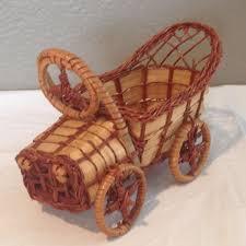 <b>Vintage Brown</b> Wicker Victorian <b>Car</b> Basket Planter | <b>Vintage brown</b> ...