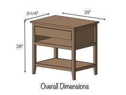 diy bedside table plans dimensions bed side furniture