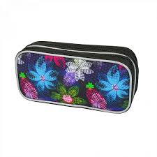 <b>Пенал</b>-<b>косметичка Magtaller 2</b> молнии, Zoom, 9х20х5см, Flowers