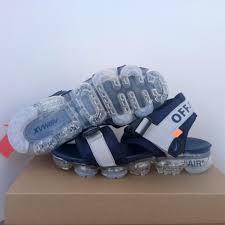 Off White X Nike Design Men Sandals Shoes <b>Black Silver</b> - nike shoes