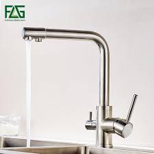 <b>FLG</b> Filter <b>Kitchen Faucets</b> Deck Mounted Mixer Tap <b>360</b> Rotation ...