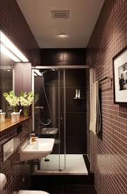 architecture bathroom toilet: narrow bathroom solution the glass shower door keeps the are feeling open the inset