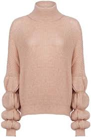 Romacci Women Knitted Sweater High Neck Long Sleeves Raglan ...