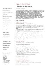 Example Resume  Technical Skills And Educational Summary For Resume Sample For Customer Service Position With     happytom co