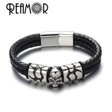 Мужской <b>браслет</b> на запястье REAMOR, модный <b>браслет</b> из ...