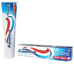 <b>Зубная паста Aquafresh</b> Тройная защита Освежающе-мятная ...