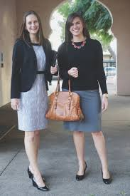 what to wear to an interview corporate formal and business casual sharp but modern kayla left in more conservative attire kara right