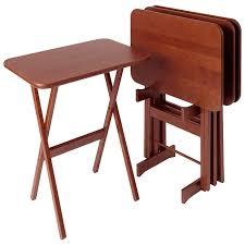 large rectangular cherry tv tray table set of 4 cherry wood furniture