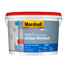 <b>Краска</b> для стен и потолков <b>Marshall Export</b>-<b>7</b>, белая, 9 л - купите ...
