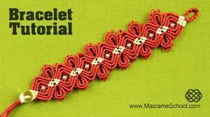 Macramé <b>Diamond Flower</b> Bracelet Tutorial | Macrame School ...