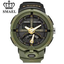 SMAEL Men's Electronic Dual Display LED Digital Watch ... - Vova