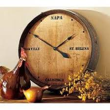 napa valley wine barrel clock its always time for wine wine clocks arched napa valley wine barrel