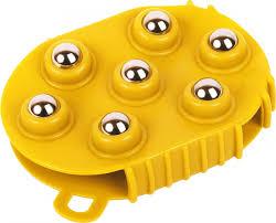 <b>Силиконовая массажная щетка</b>, желтая