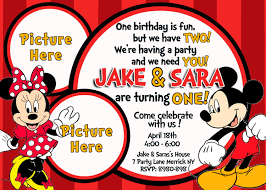 mickey and minnie mouse birthday invitations bagvania twin minnie and mickey mouse birthday invitations