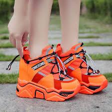2021 Super High Heels Platform Shoes <b>Women Casual Vulcanized</b> ...
