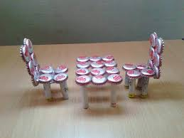 make miniature table chairs from waste bottle caps recycled craft ideas youtube bottle cap furniture