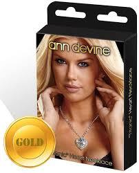 <b>Цепочка с сердцем Ann</b> Devine Titanic Heart Necklace золотая ...