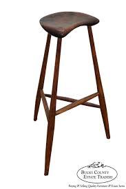 wharton esherick rare signed walnut oak stool bucks county pa estate traditional home office