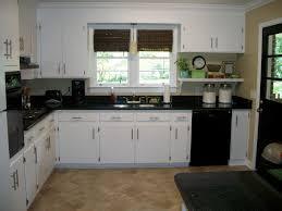kitchen cabinets cream tiles glass